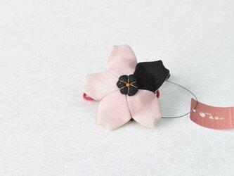 小さな巾着袋/みこ花「藤色」mi-4a/リメイク着物の画像