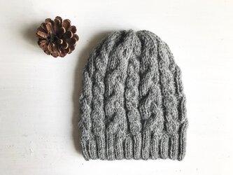 ニット帽子a[グレー]の画像