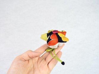 小さな巾着袋/みこ花「クラシカルモダン」 mi-1a/リメイク着物 sold outの画像