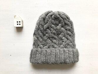 ニット帽子b[グレー]の画像
