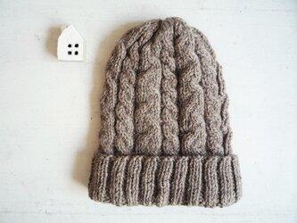 ニット帽子b[モカ]の画像