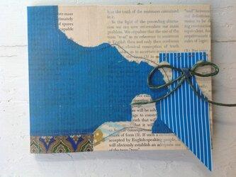 eco-friendlyコラージュのノート+青+の画像