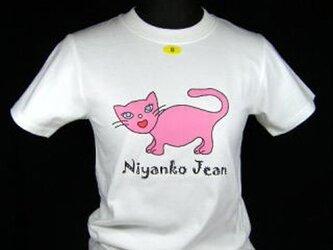★★オリジナルデザイン★ピンクの猫のTシャツ・新品★★の画像