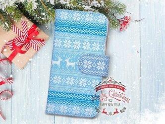 【全機種対応】送料無料☆【手帳型】クリスマス限定スマホケース No.1の画像