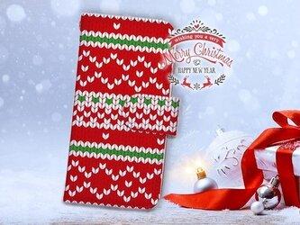 【全機種対応】送料無料☆【手帳型】クリスマス限定スマホケース No.6の画像