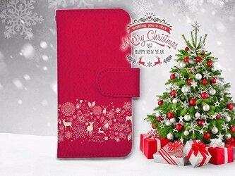 【全機種対応】送料無料☆【手帳型】クリスマス限定スマホケース No.7の画像