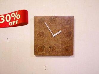 木の壁掛け時計/No.17 ヒノキの画像