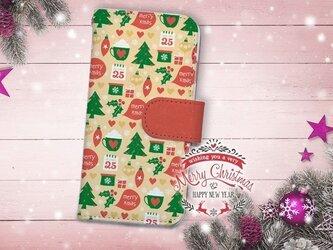 【全機種対応】送料無料☆【手帳型】クリスマス限定スマホケース No.8の画像