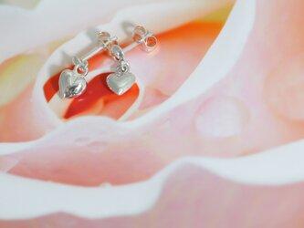 ハートの可愛いシルバーピアス(直付け)APs-012の画像