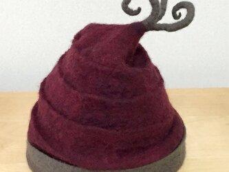 フェルトno軽くてあったか帽*ワイン系の画像