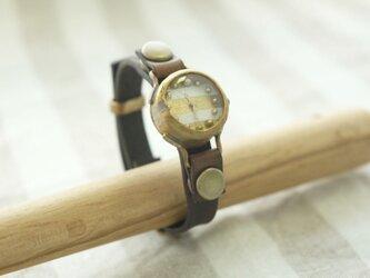 まるい時計 w-shima white n R006の画像