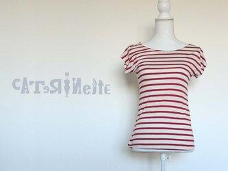 [一点もの ]イタリア人作家のストライプTシャツの画像
