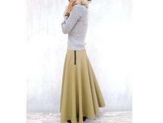 フレアスカート ベージュカーキの画像
