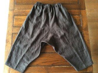 受注製作~上質リネン100%*すっきりシルエットのサルエル風パンツの画像