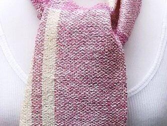 【No.0862】草木染手織りマフラー(絹100%)の画像