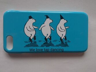 シロクマの タップダンス iPhone ケースの画像