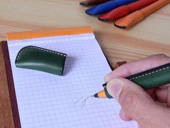 ペン 革巻きペン イタリアンレザーの画像