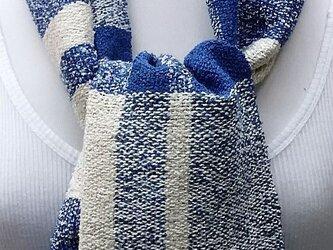 【No.0854】草木染手織りマフラー(絹100%)の画像