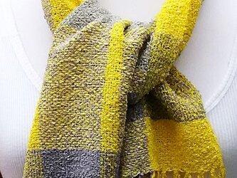 【No.0844】草木染手織りマフラー(絹100%)の画像
