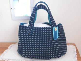 あたたかい冬のバッグ 紺色1の画像