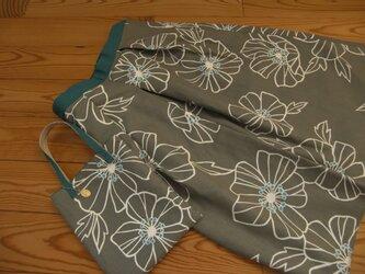 秋のスカート2 お揃いバッグ付き 丈とウエスト調整しますの画像