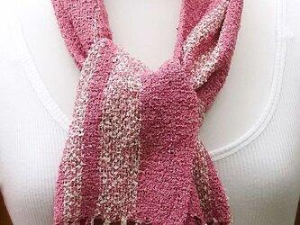 【No.0836】草木染手織りマフラー(絹100%)の画像