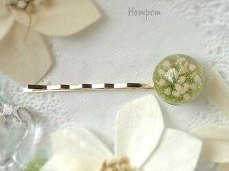 かすみ草のヘアピン ホムポムの画像