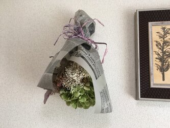 ドライあじさいの花束の画像