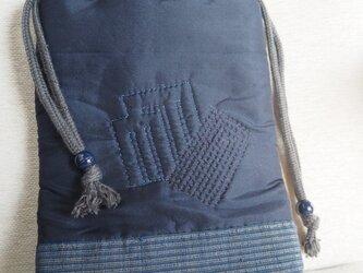 男性用 手づくり信玄袋(巾着)の画像