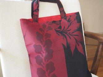 和布の手提げ袋の画像