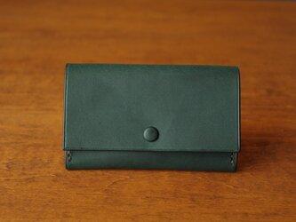 【受注生産】Business Card Case/bluegreen×yellowの画像