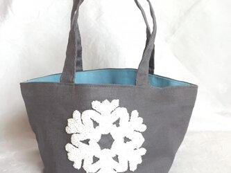 sale 雪刺繍のミニバッグの画像