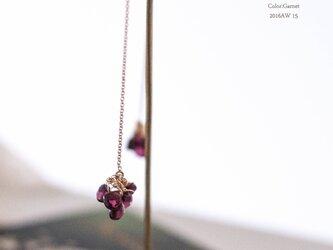 【14kgf】PetalsペタルGarnetロードライドガーネット/アメリカンピアス(イヤリング)の画像