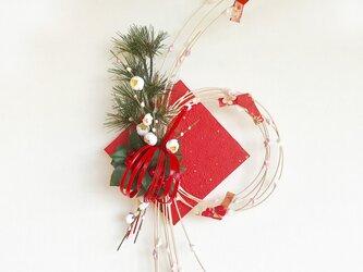 お正月飾りもち花リースNYB-05の画像