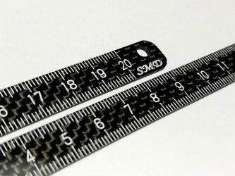 【カーボンタトゥースケール・定規(20cm)】文字が消えにくいの画像