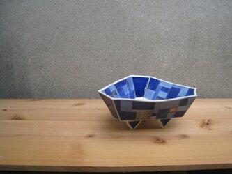 青いモザイク コンポートの画像