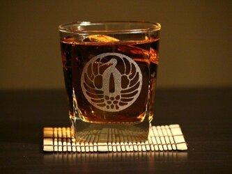 鶴丸透かし鍔  ロックグラスの画像