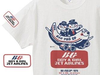 Boy & Girl エアラインズ 150.160(女性M.L)S〜XL Tシャツ 【受注生産品】の画像
