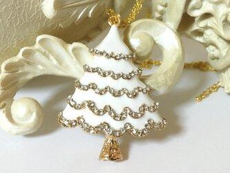 スノーホワイトクリスマスツリー ネックレスの画像