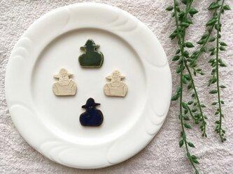 【陶土】farmerブローチ ヘアゴムの画像