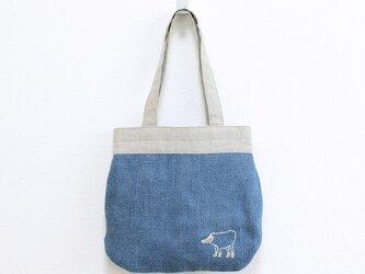 《受注制作》リラのドンゴロスのバッグ/青の画像
