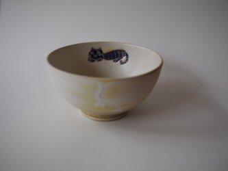 青の猫と森のお茶碗 の画像