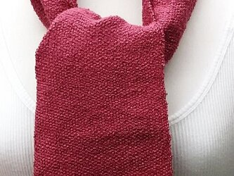 【No.0950】草木染手織りマフラー(絹100%)の画像