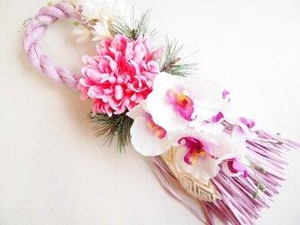 お花が可愛いお正月飾り*ループP1615の画像