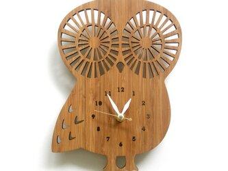 フクロウの掛け時計 OWL(数字あり)の画像