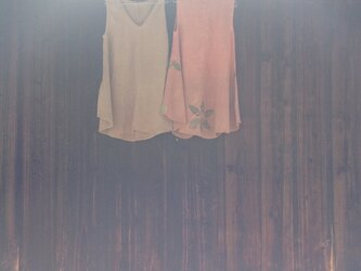 オーガニックコットン ロング チュニック 茜染めの画像