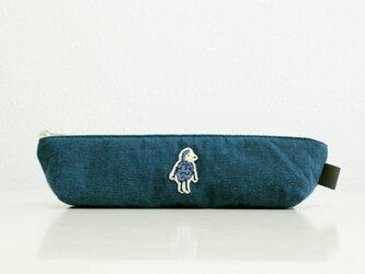 《受注制作》キリピのスリムポーチ/ブルーの画像