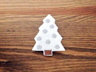刺繍ブローチ 「ホワイトツリー」の画像