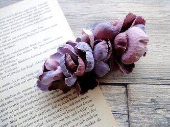 花びらのバレッタ ■ ふんわり優しいシルエット ■ パープルの画像
