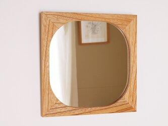 木製 鏡 欅(ケヤキ)材 ミラーの画像